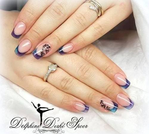 Création nail art Delphine Derhé Spoor vernis french