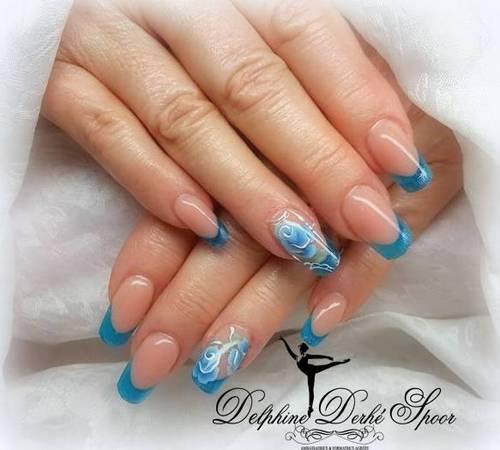 Création nail art Delphine Derhé Spoor vernis peinture fine