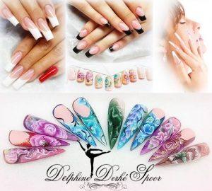 Création Nail Art Delphine Derhé Spoor ongles vernis noir